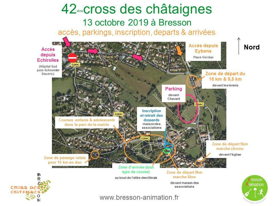 Cross des châtaignes 2019 accès
