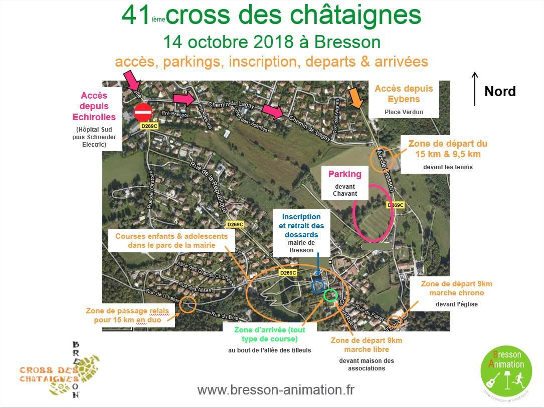 Cross des châtaignes 2018 accès