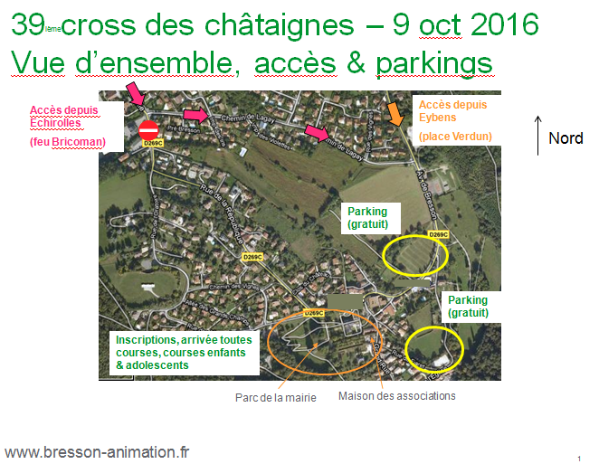 Cross des châtaignes 2016 accès