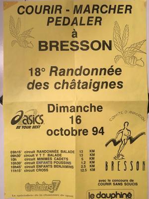 Cross des châtaignes 1990 à 1999