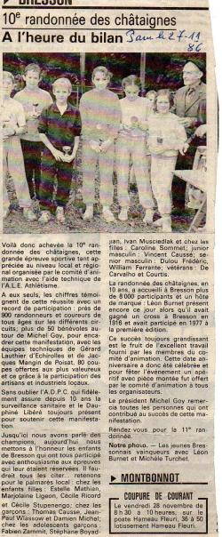 Articles de presse DL 1986