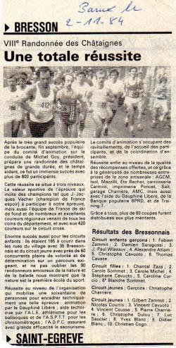 Articles de presse DL2 1984