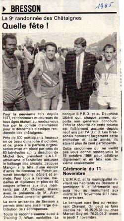 Articles de presse DL 1985