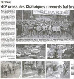 Dauphiné Libéré - pages locales 9 octobre 2017