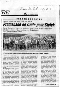 Articles de presse DL 2003